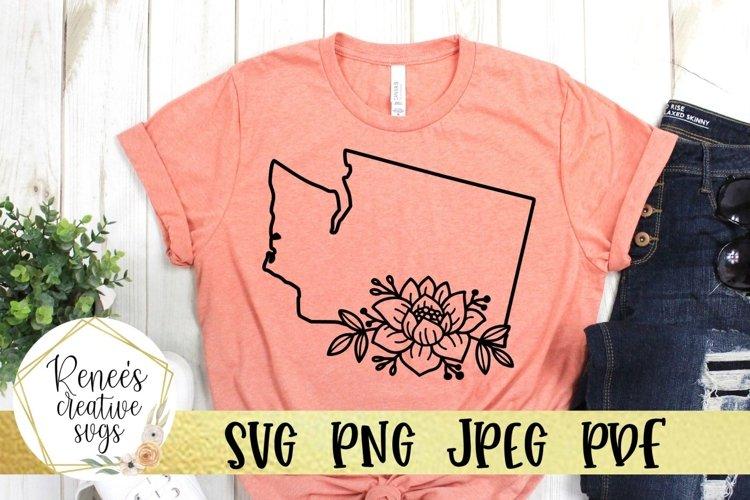 Washington State Floral Outline| State SVG | SVG Cut File