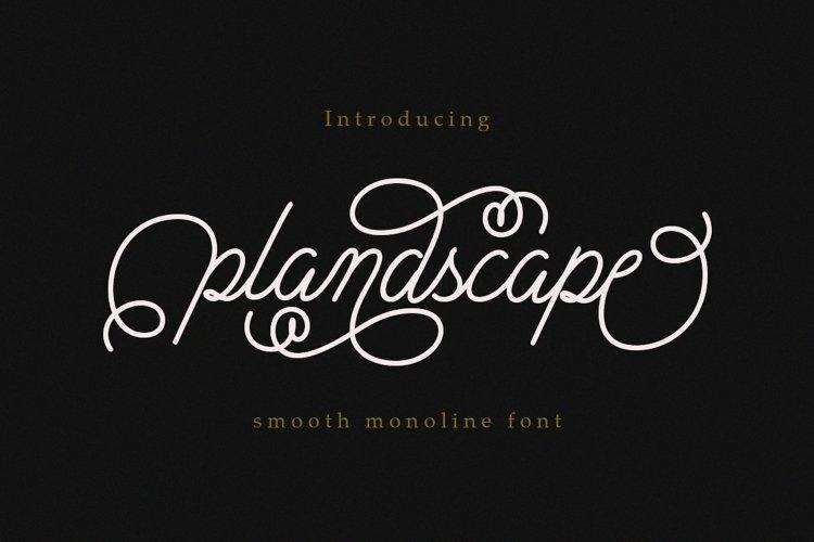 Plandscape smooth monoline font