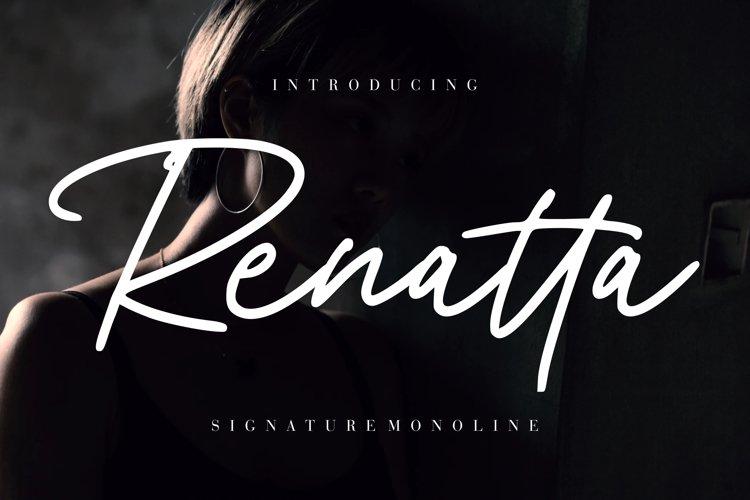 Renatta Signature Monoline example image 1