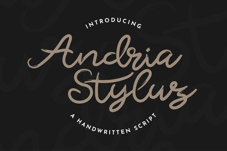 ANDRIA STYLUZ Handwritten Script Font