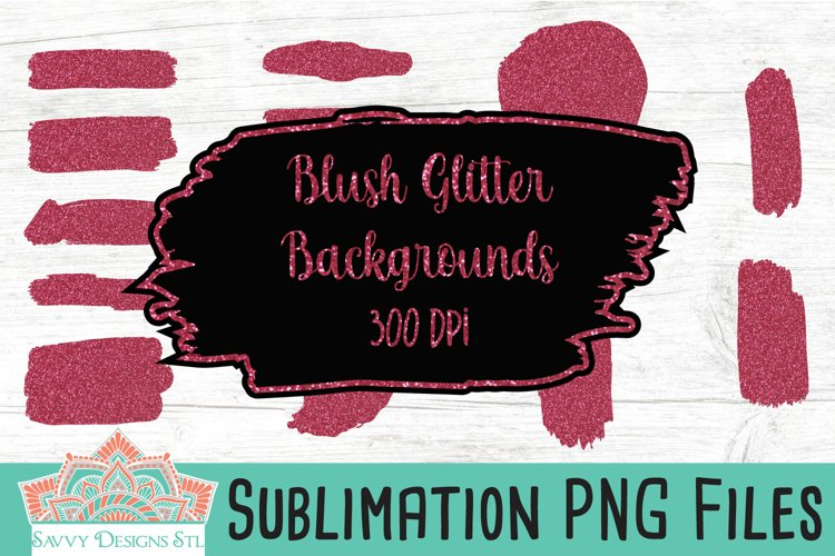 Blush Glitter Sublimation Backgrounds