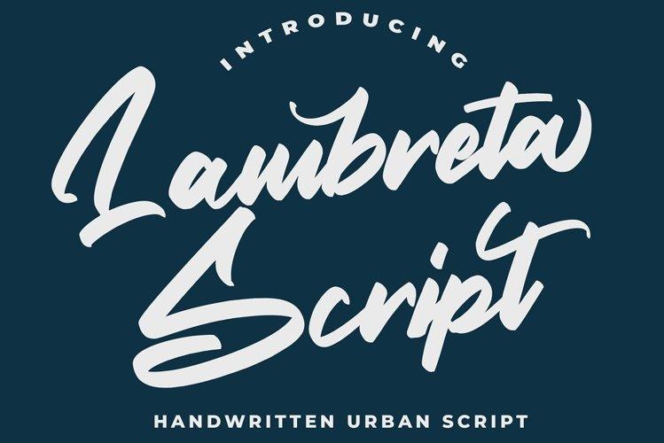 Lambreta Script Font example image 1