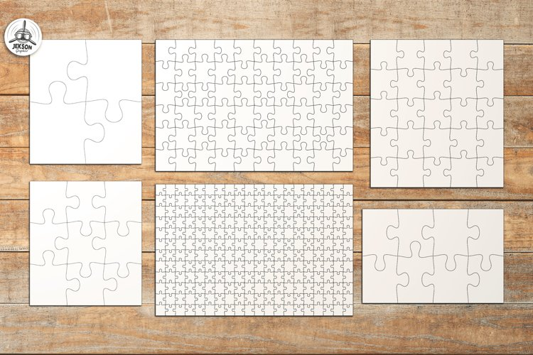 Puzzle Jigsaw SVG Templates Bundle - Classic, Heart, Unusual - Free Design of The Week Design2