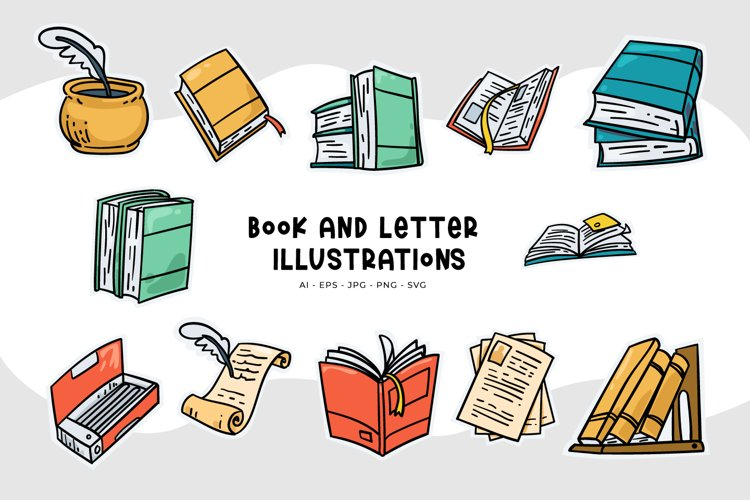 Book And Letter Illustrations
