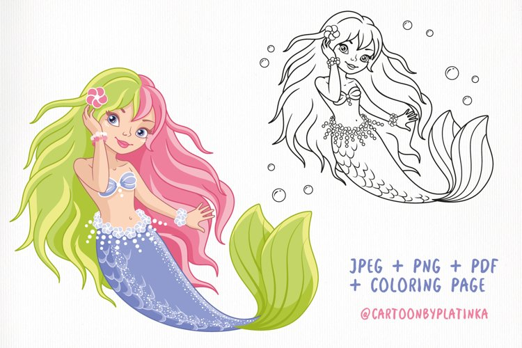 Mermaid with two tone hair