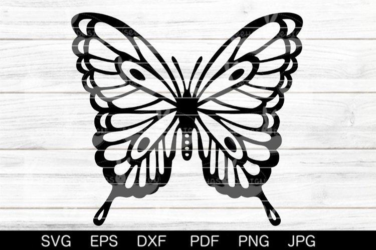 Butterfly SVG DXF EPS PDF PNG JPG example image 1