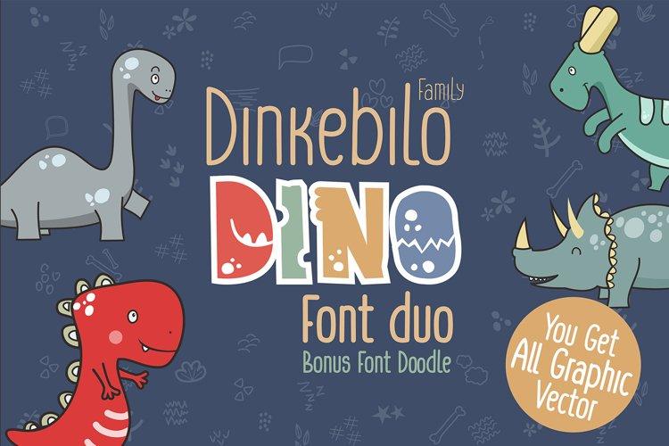 Dinkebilo Dino Font Duo example image 1