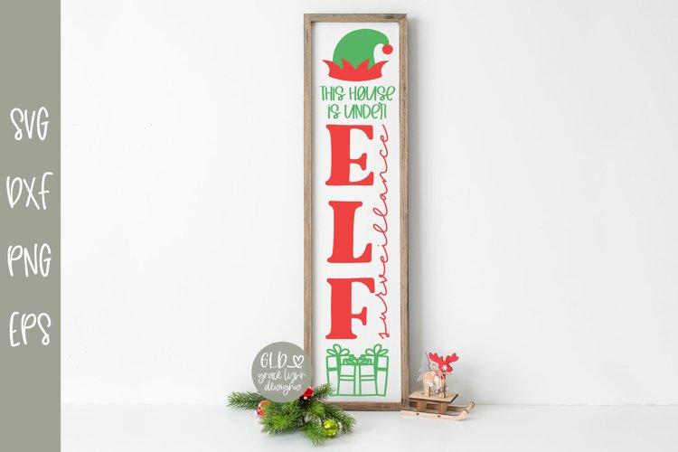Elf Surveillance - Vertical Christmas SVG example image 1