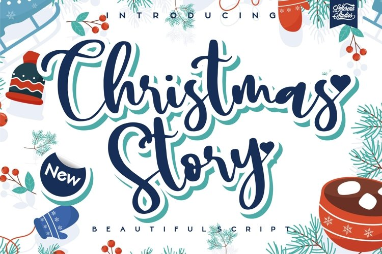 Christmas Story - Beautiful Script Font example image 1