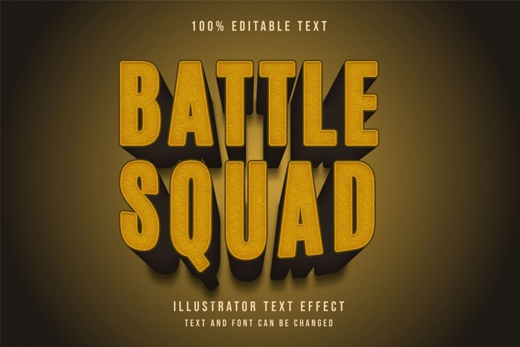 Battle squad - Text Effect example image 1