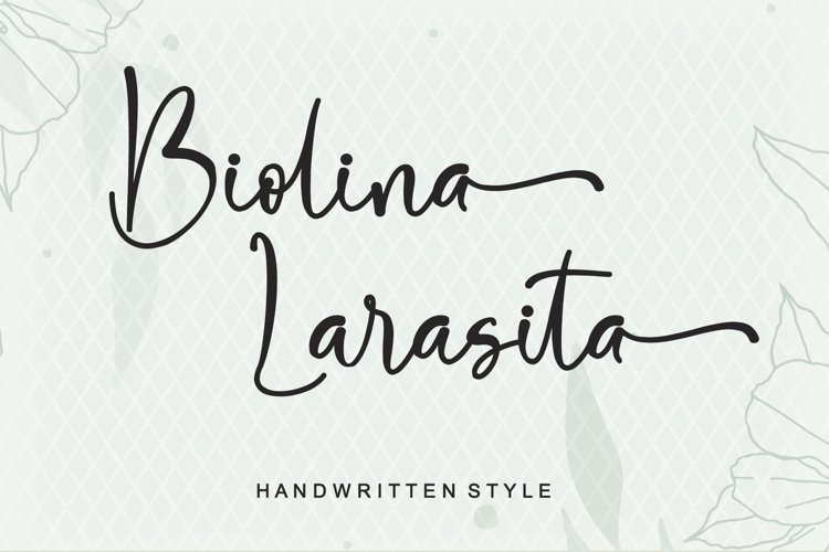 Biolina Larasita - Handwritten Style example image 1