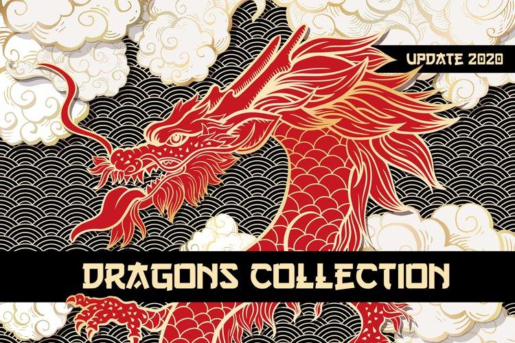 Chinese Dragon Vector Illustrations