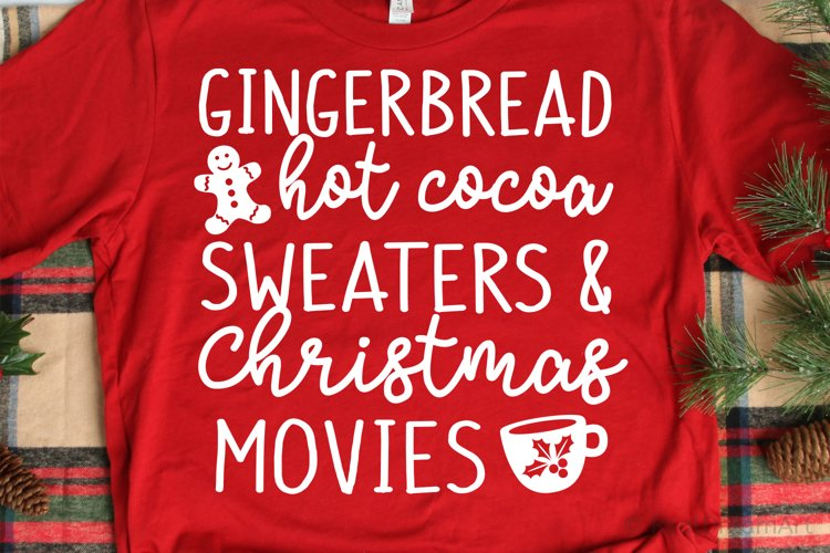 Gingerbread Hot Cocoa SVG, DXF, PNG, EPS example image 1