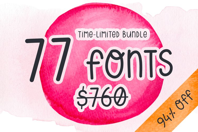 77 fonts - Bundle - time-limited example image 1