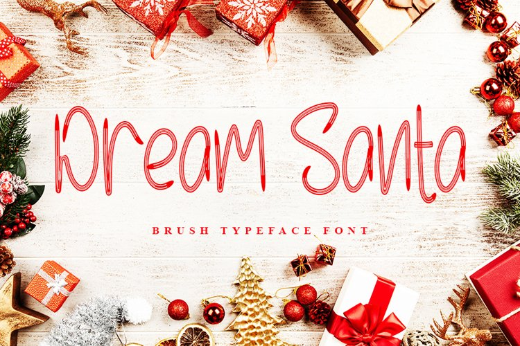 Dream Santa - Brush Typeface Font example image 1
