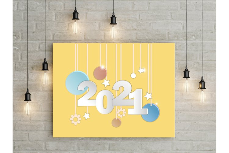 Vector illustration with numbers 2021
