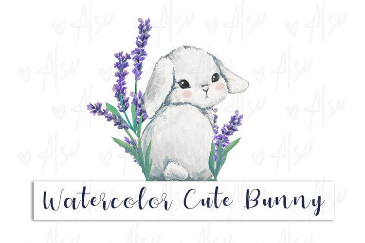 Watercolor Cute Bunny
