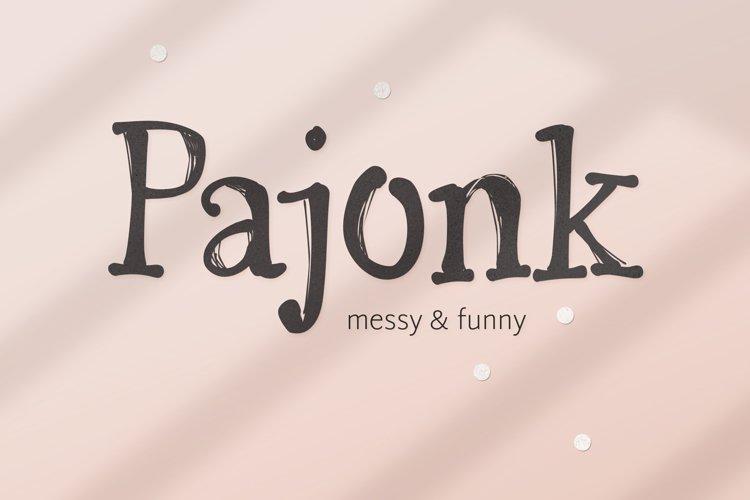 Pajonk font example image 1
