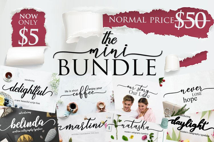 THE MINI FONT BUNDLE BY MRLETTERS VOL 3 example image 1