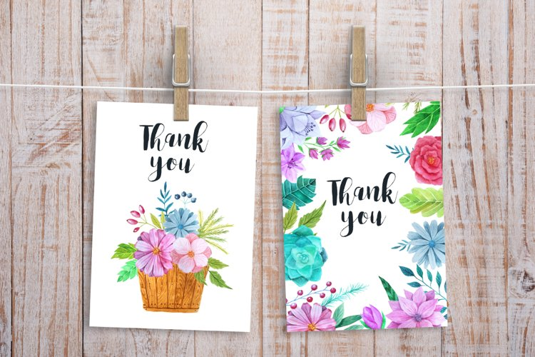 Watercolor Flower Pack example 4