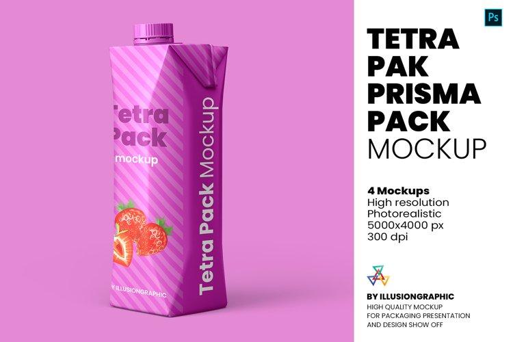 Tetra Pak Prisma Pack Mockup - 4 Views