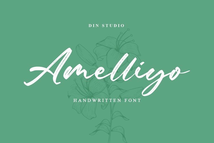 Amelliyo-Handwritten Font example image 1