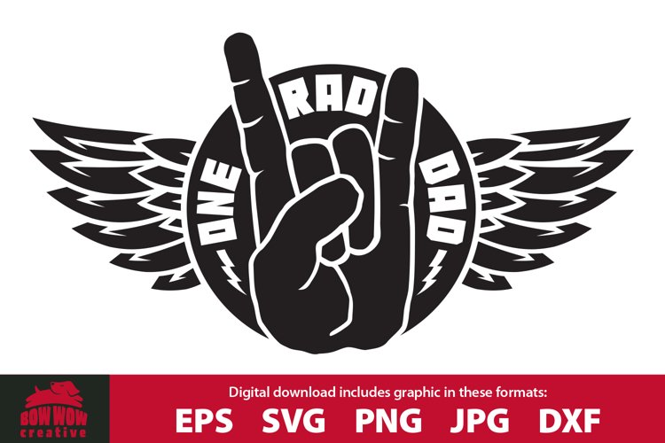 One Rad Dad - Clipart   SVG Cutting File for Dad