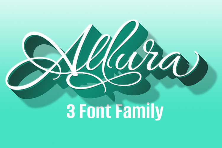 Allura Three Font Package- Save $60! example image 1