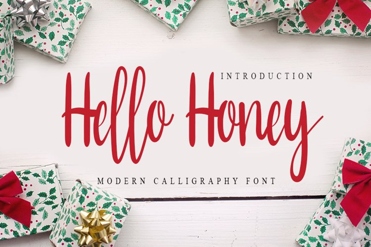 Hello Honey - Modern Calligraphy Font example image 1