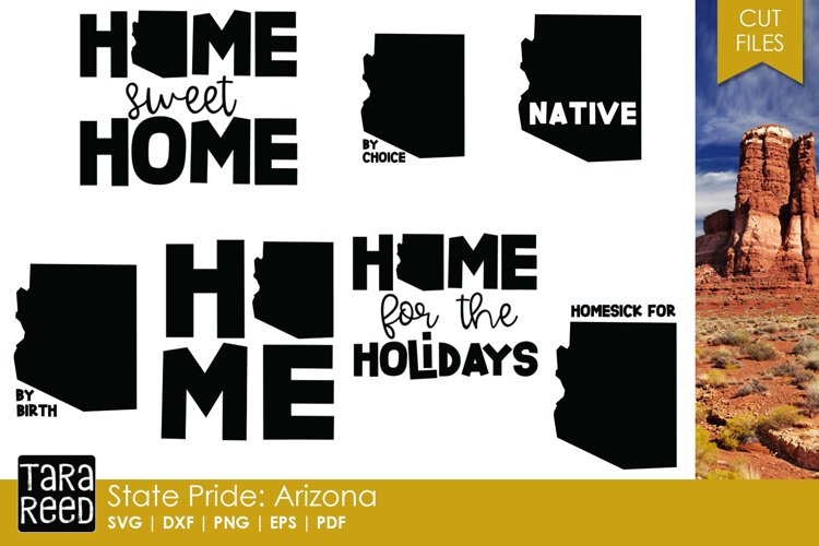 State of Arizona - SVG and Cut Files for Crafters example image 1