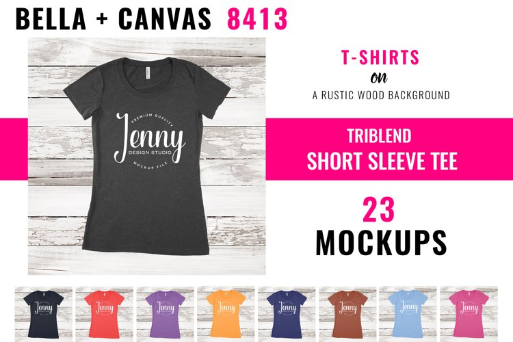 Bella Canvas 8413 Mockup Bundle, Triblend Tshirt Mockup
