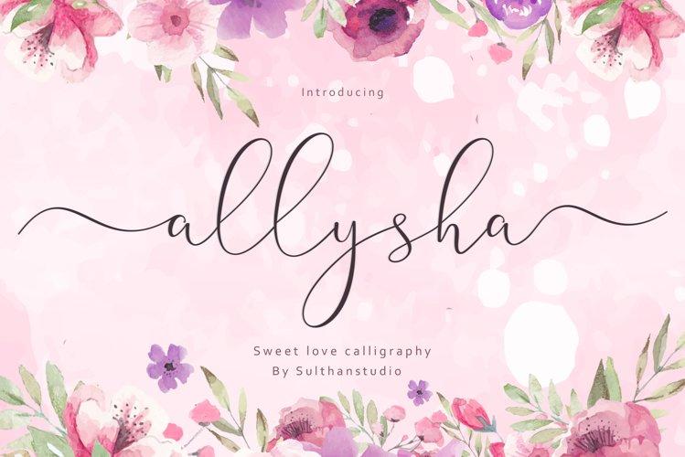 Allysha script example image 1