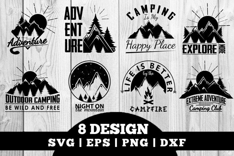 Camping SVG Bundle, Vector Cut Files