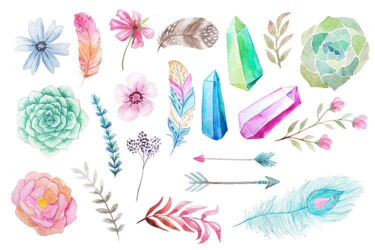 Watercolor Bohenian Nature Set - Free Design of The Week Design0
