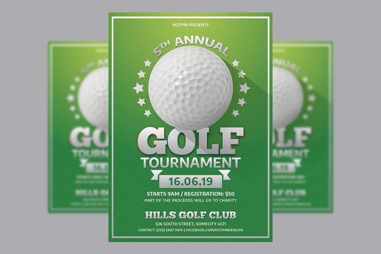 Golf Tournament Flyer Template example image 1