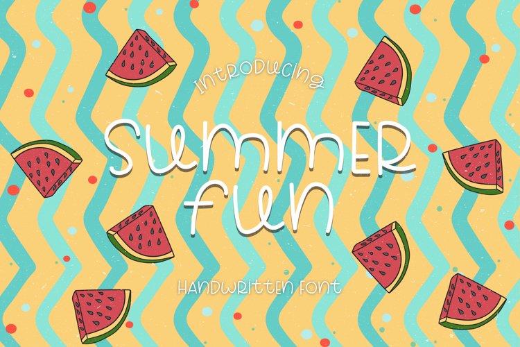 Summer Fun - A Sweet Handwritten Font example image 1