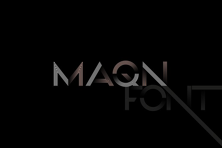 MAQN font example image 1