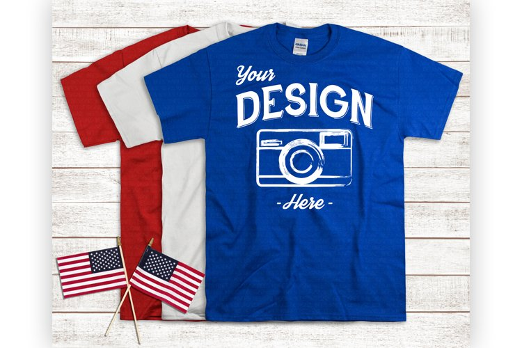 Fourth Of July Tshirt Mockup USA Shirt Display example image 1