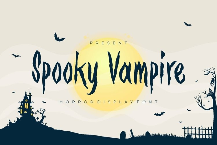 Web Font Spooky Vampire Font example image 1