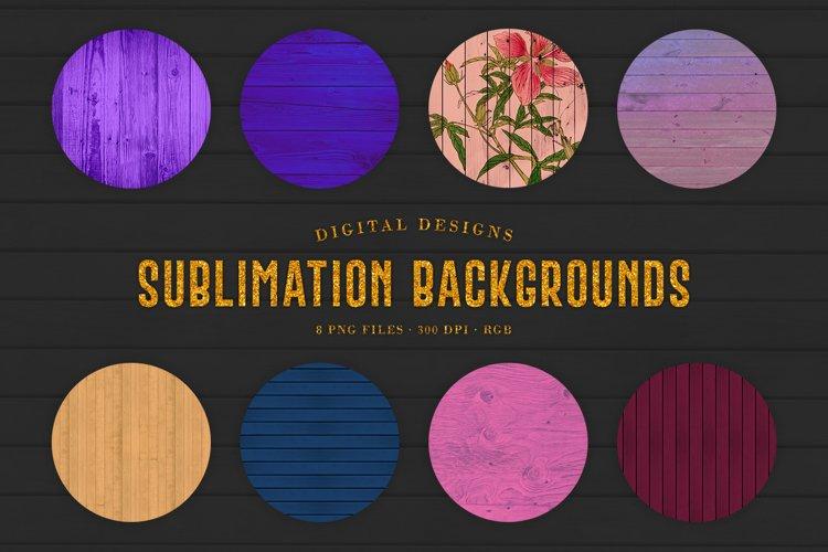 Wood Sublimation Backgrounds example image 1