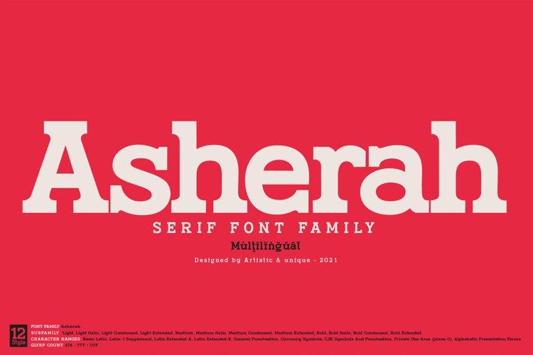 Asherah - Serif font family example image 1