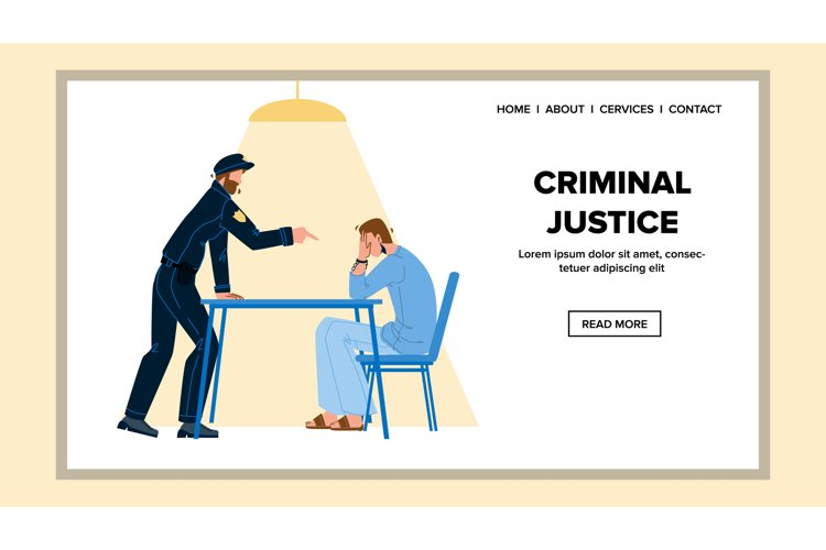 Criminal Justice In Police Office Room Vector example image 1