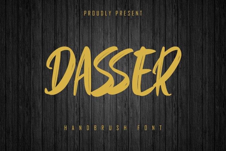 Dasser - Handbrush Font example image 1