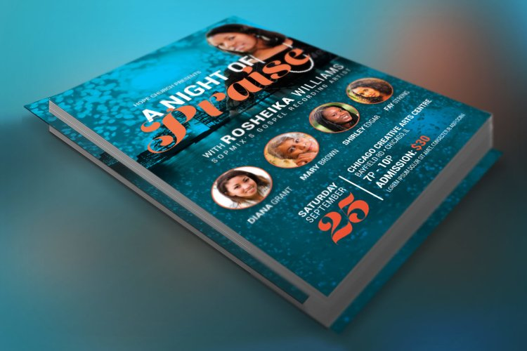 Worship Concert Church Flyer Template example image 1