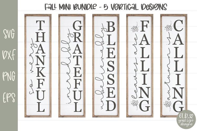 Fall Mini Bundle - 5 Vertical Fall Designs example image 1