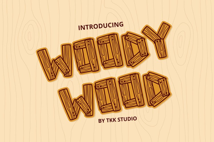 Woody Wood - Kids Font example image 1