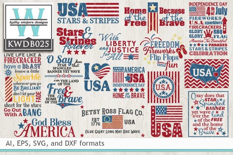 BUNDLED Patriotic Cutting Files KWDB025