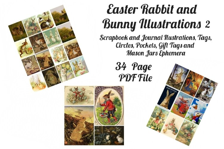 Easter Bunny and Rabbit Vintage Illustrations 2 PDF example image 1