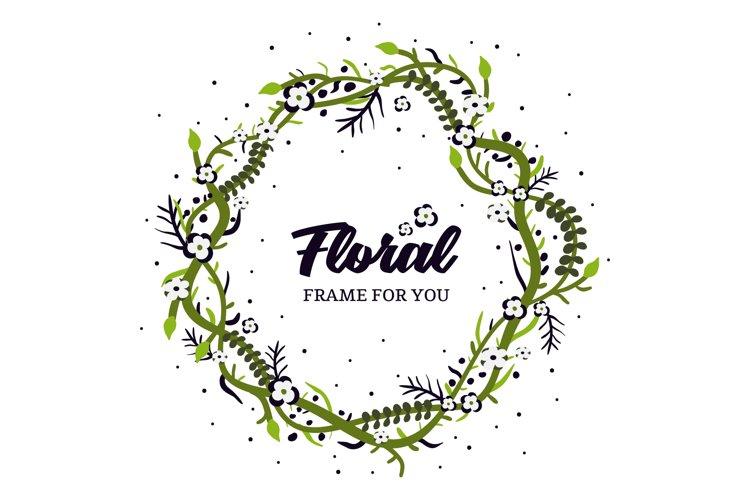 Foral Frame spring design vector example image 1