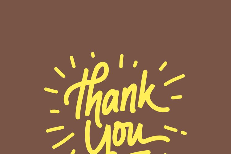 Thank You Card Lettering example image 1